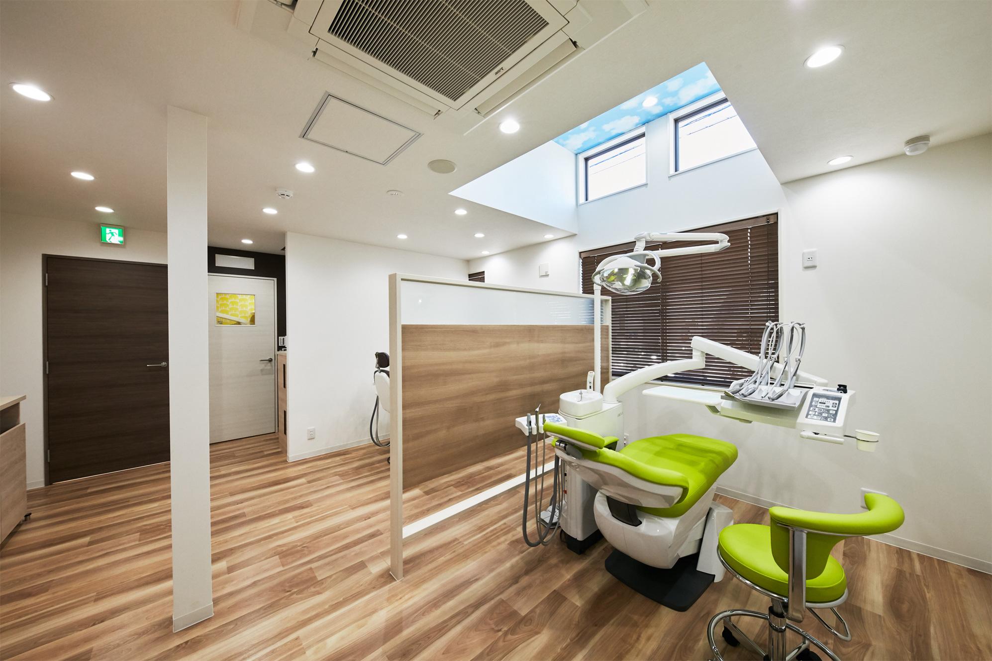 開放感のあるユニット千葉県市川市大和田2-13-24ペア歯科医院市川診療所